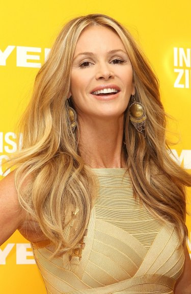 Model Elle Macpherson is being suitably coy about her new underwear range.