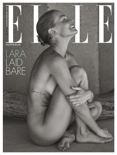 Lara Worthington on Elle Australia's subscription-only cover