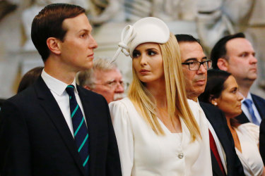 Jared Kushner, senior White House adviser and Ivanka Trump have joined Trump on the visit.