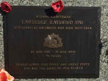 Lawrence Raymond Day's memorial plaque stolen from his final resting place.
