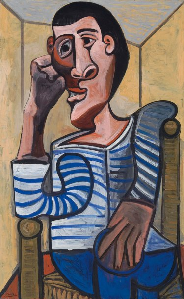 Pablo Picasso's 1943 painting Le Marin. The work had to be pulled from the auction.