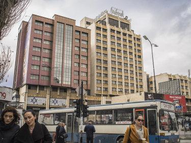 The Grand Hotel in Pristina, Kosovo.