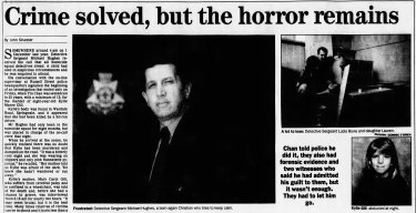 Coverage of the Kylie Gill case in The Age, August 1993.