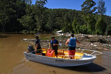 More of this to come? The Hawkesbury River to Sydney's north and west flooded during days of heavy rainfall in March 2021.