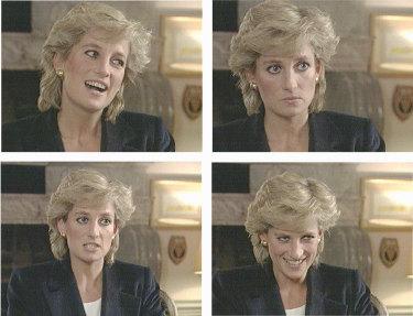 Princess Diana on the BBC's Panorama program in London, November 1995.