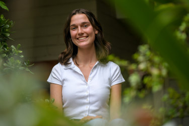 Claire Morgan is the only student on the VCE honour roll with a 50 in Environmental Science.