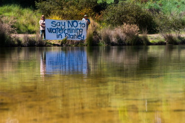 Stanley residents are facing a $90,000 bill for their anti-water mining campaign.
