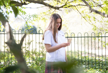 Isabella Ormsby, 14, says mobile phones are a distraction in her classes.