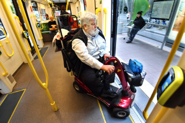 James Carter was finally able to get off the tram after an hour-long round trip.