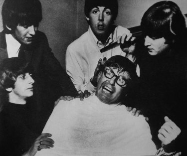 Bob Rogers clowns around with The Beatles while covering their 1964 Australian tour.