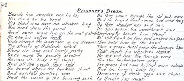 """""""The Prisoner's Dream"""", by an unknown POW."""