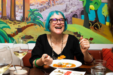 """""""I'm an everything person"""": author Linda Jaivin at Cafe Giorgio."""