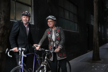 Lord mayor Sally Capp and councillor Nicolas Frances Gilley, the chair of the MCC's transport portfolio.