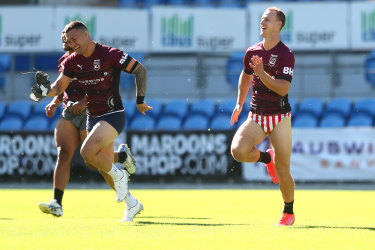 News in briefs: Daly Cherry-Evans trains in his Budgy Smugglers  on Sunday.