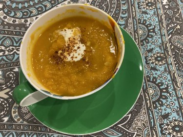 Julia Gillard's pumpkin soup, snapped on her mobile phone.