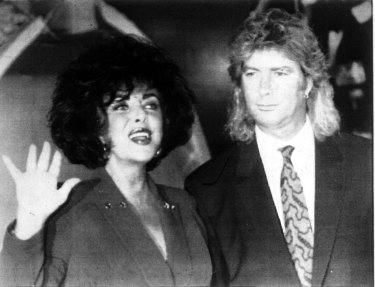 Liz Taylor & Larry Fortensky.  1991 file picture