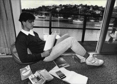 Janusz Hooker pictured in 1987 on the eve of his HSC exams.