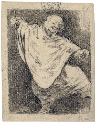 Fancisco Goya's Phantom Dancing with Castanets, 1824-28.