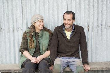 Robin Koster-Carlyon and Peter Carlyon of Transition Farm on the Mornington Peninsula.