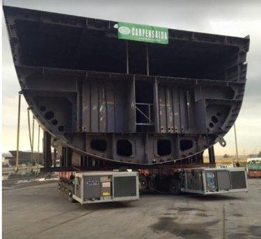 Cross-section of James Packer's new gigayacht in transit in December, 2015.