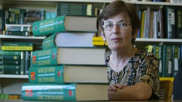 Longtime Macquarie Dictionary editor Susan Butler.
