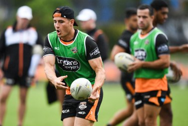Tiger ready ... the returning Josh Reynolds will add plenty of spark out of dummy-half for the Wests Tigers.