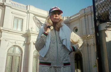 "Faye Dunaway, 77, fashion's new ""it girl"", courtesy of Gucci."