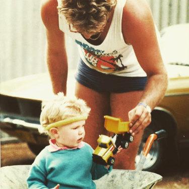 Zak Kirkup with his dad.