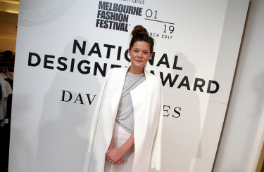 Last year's National Designer Award winner Kacey Devlin.