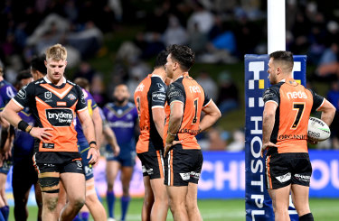 Wests Tigers were humiliated by Melbourne Storm on Saturday.