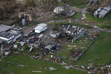 Hurricane Maria, as well as Hurricane Irma two weeks later, knocked out power and water to the island and caused widespread flooding.