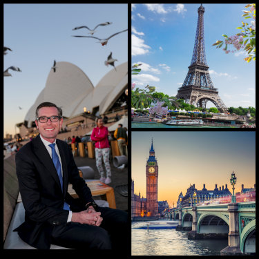 Treasurer Dominic Perrottet believes Sydney can rival global cities London and Paris.