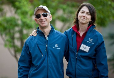 Jeff Bezos and his now former wife MacKenzie Bezos.