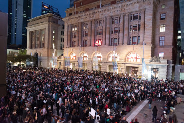 Forrest Chase was packed with thousands of people in support of the black lives matter movement.