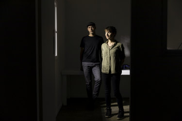 Future thinking: Michaela and Alex Davies in their installation Edge Of The Present.