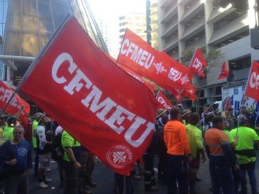 The CFMEU is merging with two other unions.