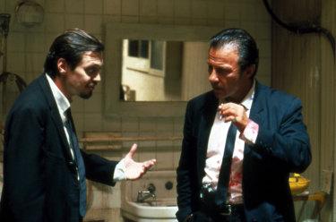 Steve Buscemi and Harvey Keitel in <i>Reservoir Dogs</i>.