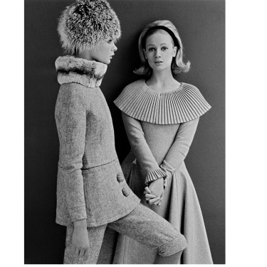 Celia Hammond (right) and Jean Shrimpton modelling Mary Quant designs, 1962.