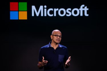 """Microsoft chief executive Satya said he had been test-driving the next Windows operating system and was """"incredibly excited"""" about its prospects."""