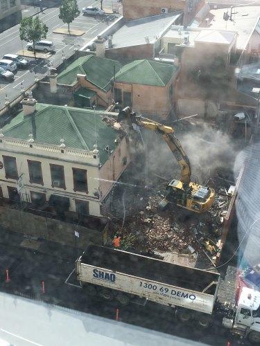 Raman Shaqiri's company Shaq Demolition pulls down the pub in 2016.
