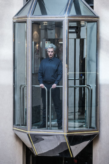 Capaldi travels to another dimension - the ground floor of his Melbourne hotel.