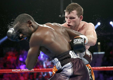 Beaten but unbowed: Jeff Horn lost his world title bout against Terence Crawford.