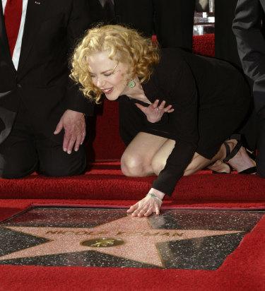 Nicole Kidman gets her Hollywood Boulevard star in 1998.
