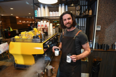 Cafe owner Lachlan Murrell