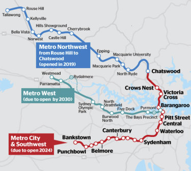 The Berejiklian government has decided against building a train station at Rydalmere, east of Parramatta, as part of its ambitious $20 billion-plus metro line along Sydney's spine, but left open the possibility of constructing one at Pyrmont in the inner city.