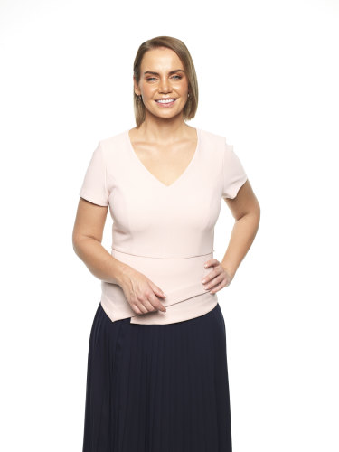 Jelena Dokic, now a Channel Nine tennis commentator.