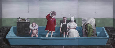 Zhang Xiaogang's Bath. The White Rabbit Collection, Sydney © Zhang Xiaogang.