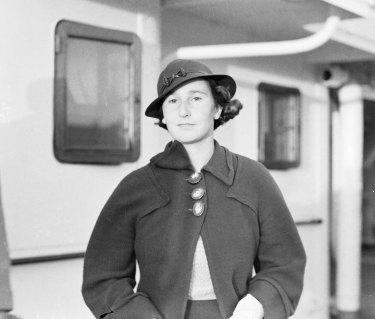 """Miss Dorothy Round, the world champion, who arrived in Sydney yesterday."" November 18, 1934"