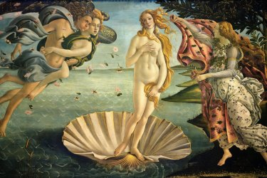 Sandro Botticelli's The Birth of Venus, painted in 1485.