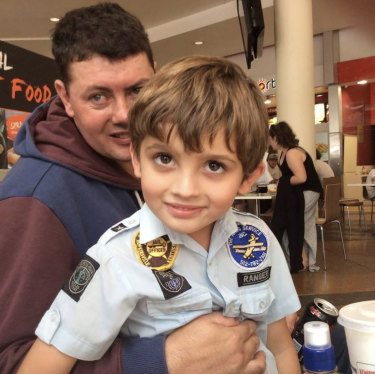 Cameron Browne, who suffered a stroke aged 33, is worried he will no longer be able to visit his 11-year-old son Cooper, who lives with relatives in Queensland if his NDIS funding is reduced.